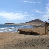 El Medano Beach, South Tenerife. Stunning Setting, Great Kite Surfing!