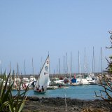 Corralejo Harbour, Fuerteventura. Learn to Sail. Boat Trips to Lanzarote