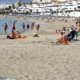 Family Friendly Calm Sheltered Beaches at Los Cristianos Tenerife