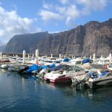 Los Gigantes Tenerife. The dramatic Los Gigantes Cliffs from the Marina